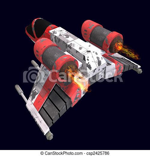 sci fi spaceship in universe - csp2425786
