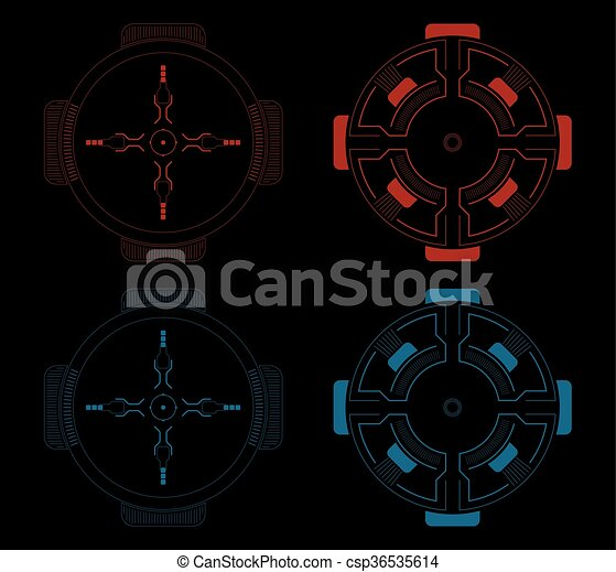 Sci fi target vector pack vector clip art - Search ...