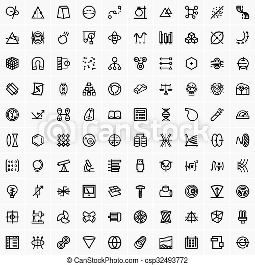 Science and technology icons - csp32493772