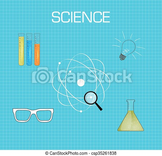 Science Background Flat Desing Science Background Medical Health