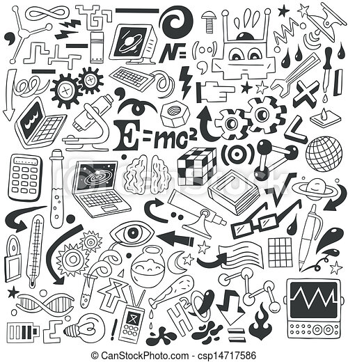 science doodles doodle drawings collection vector drawing result canstockphoto words sketch sketchbook clipart icon clip icons eps seamless notebook deckblatt