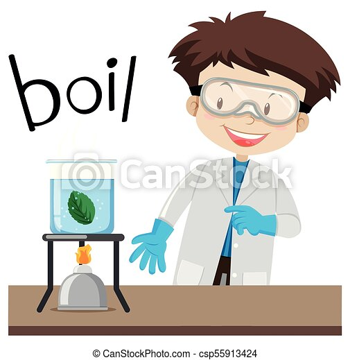 Science experiment and word boil - csp55913424