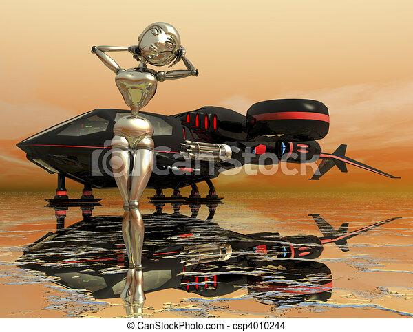 science fiction - csp4010244