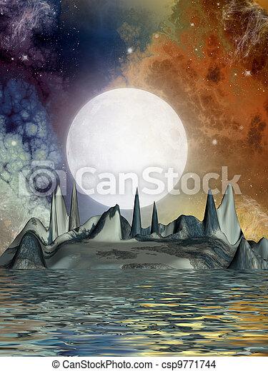 science fiction landscape - csp9771744