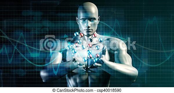 science, futuriste - csp40018590