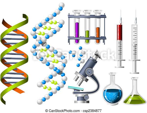 science, génétique, icônes - csp2384877
