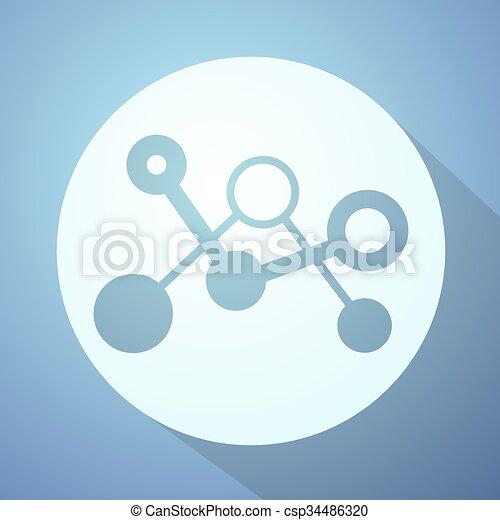 science, gentil, icône - csp34486320
