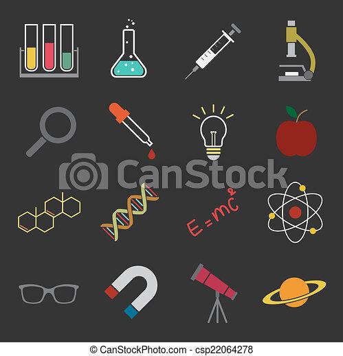 science, icône - csp22064278