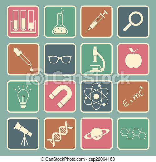 science, icône - csp22064183