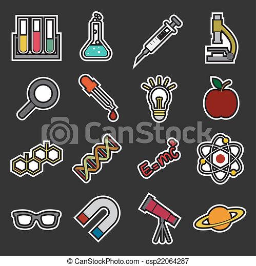science, icône - csp22064287