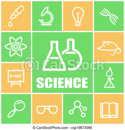 Science icons - csp19873066