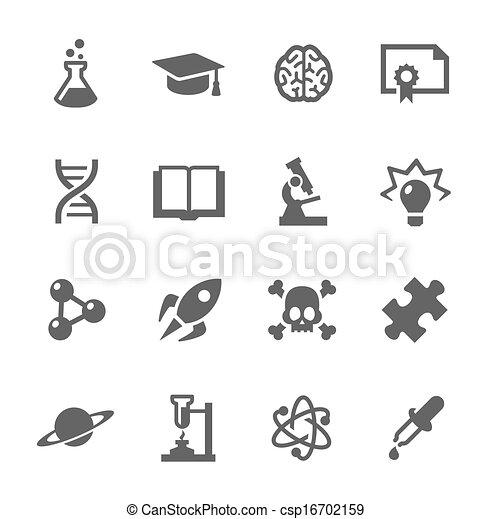 Science Icons - csp16702159