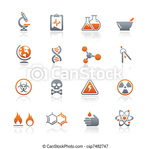 Science Icons / Graphite Series  - csp7482747