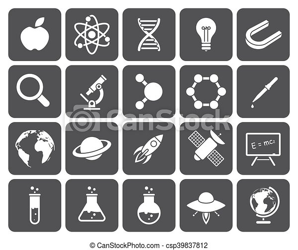 Science icons - csp39837812
