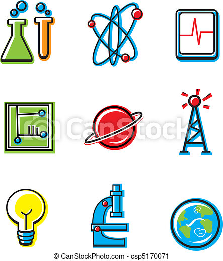 Science Icons - csp5170071