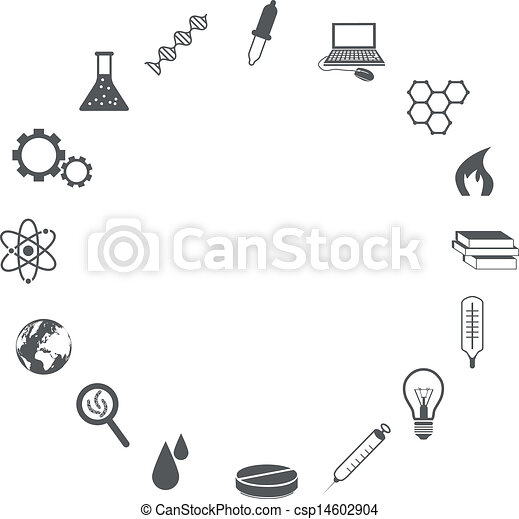 science icons - csp14602904
