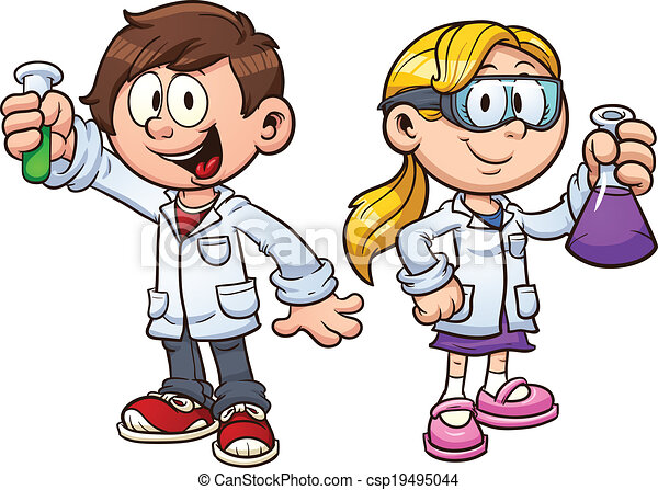 science kids scientist kids vector clip art illustration with rh canstockphoto com science clip art scientific clip art