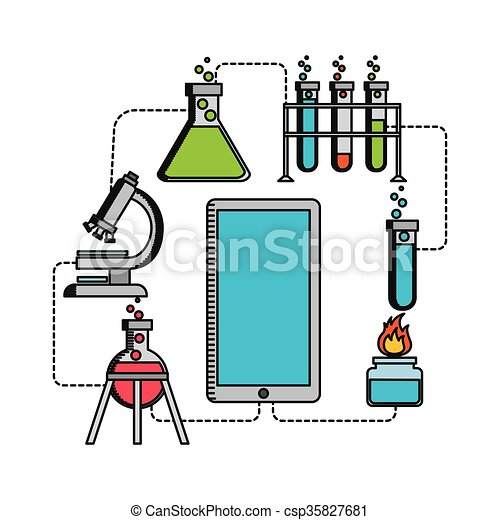 science lab design science lab design vector illustration rh canstockphoto com science lab equipment clipart science lab table clipart