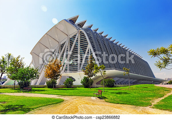 Science Museum  - City of Arts and Sciences ,Valencia - csp23866882
