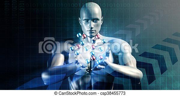 science, résumé, futuriste - csp38455773