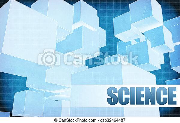 science, résumé, futuriste - csp32464487