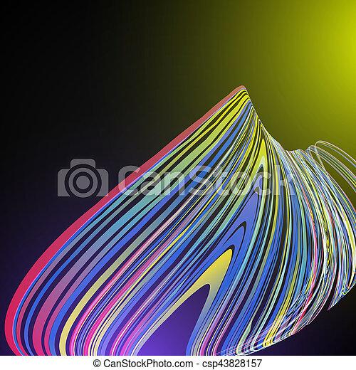 science, résumé, moderne, courbe, vecteur, fond, techno, géométrique - csp43828157