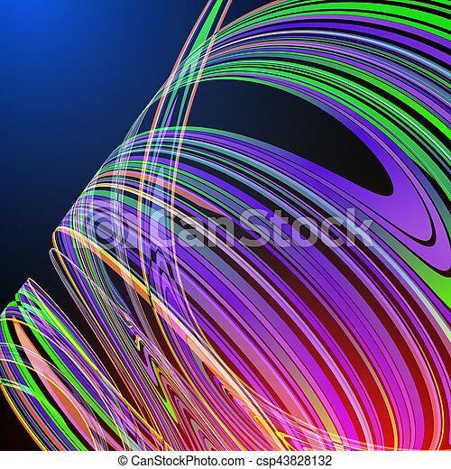 science, résumé, moderne, courbe, vecteur, fond, techno, géométrique - csp43828132