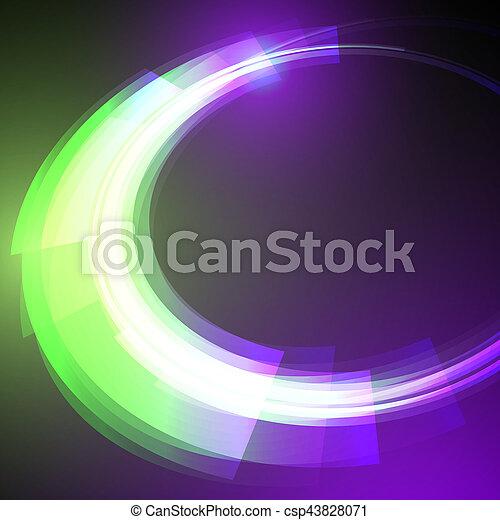 science, résumé, moderne, vecteur, fond, techno, géométrique, cercle - csp43828071