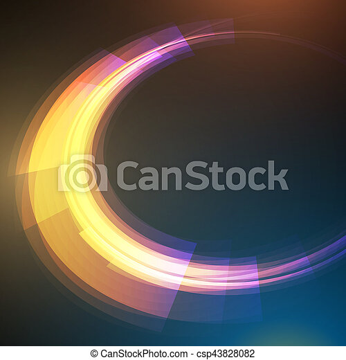 science, résumé, moderne, vecteur, fond, techno, géométrique, cercle - csp43828082