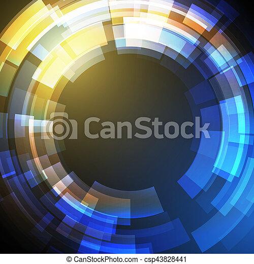 science, résumé, moderne, vecteur, fond, techno, géométrique, cercle - csp43828441