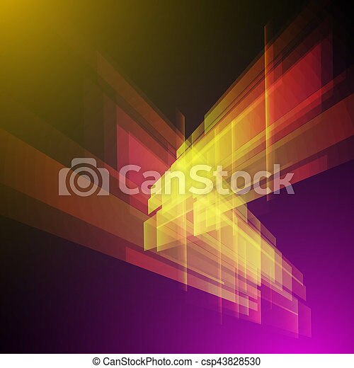 science, résumé, moderne, vecteur, fond, techno, géométrique - csp43828530
