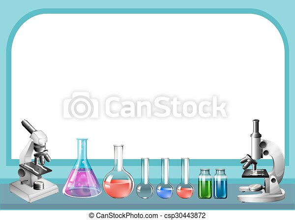 Science tool and frame illustration.