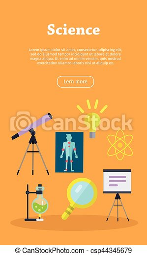 science web banner website template science banner with chemical