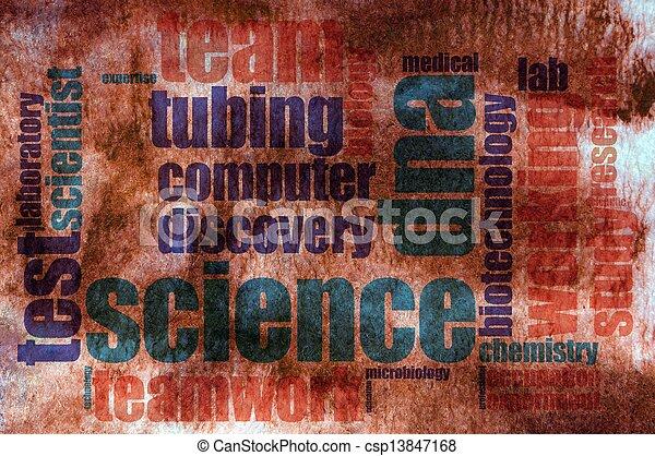 Science word cloud - csp13847168