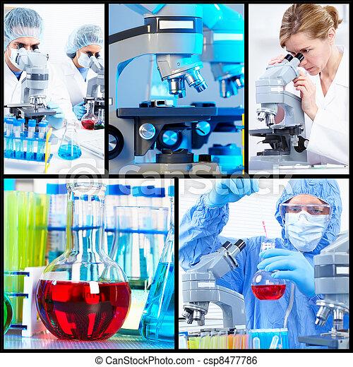 Scientific background collage. - csp8477786