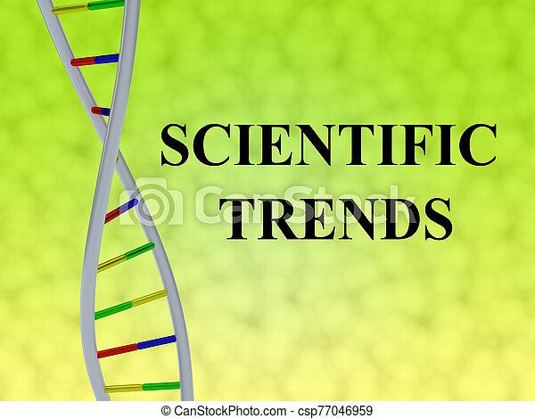 SCIENTIFIC TRENDS concept - csp77046959