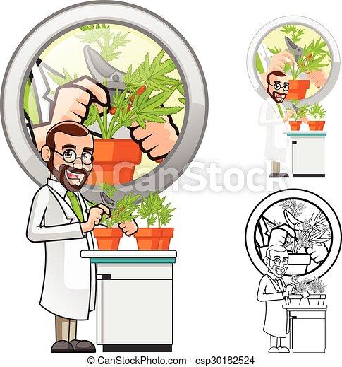 scientifique, caractère, dessin animé - csp30182524