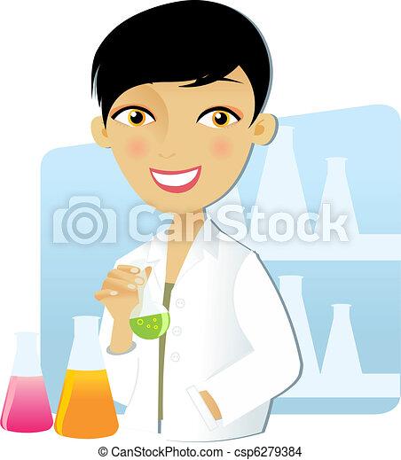 scientifique, femme - csp6279384