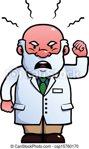 scientist being angry and waving his fist vectors illustration rh canstockphoto com Worried Clip Art Frustrated Clip Art