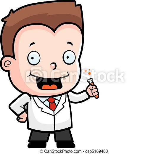 scientist boy a happy cartoon boy scientist with a test vector rh canstockphoto com Artist Clip Art Nurse Clip Art
