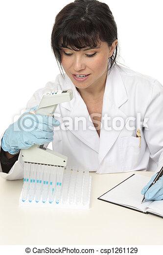 Scientist conducting research - csp1261129
