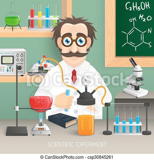 Scientist In Chemistry Lab - csp30845261