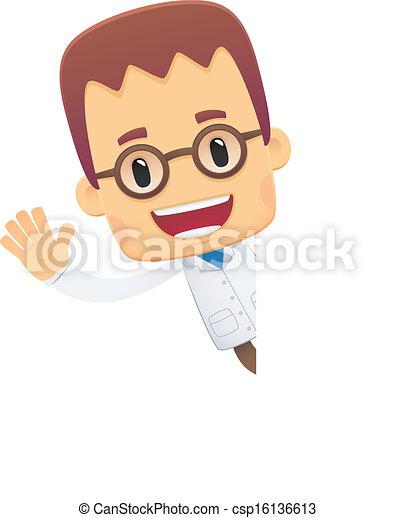 scientist. in various poses - csp16136613