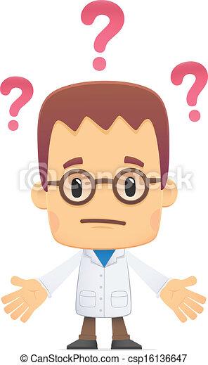 scientist., poses, divers - csp16136647