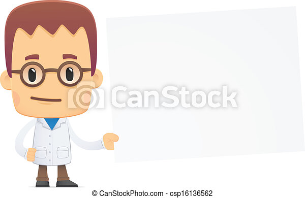 Científico. En varias poses - csp16136562