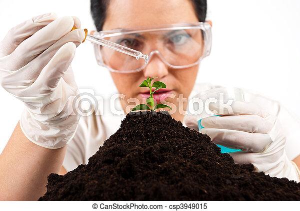Scientist woman  working - csp3949015