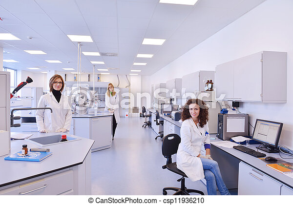 scientists working at the laboratory - csp11936210