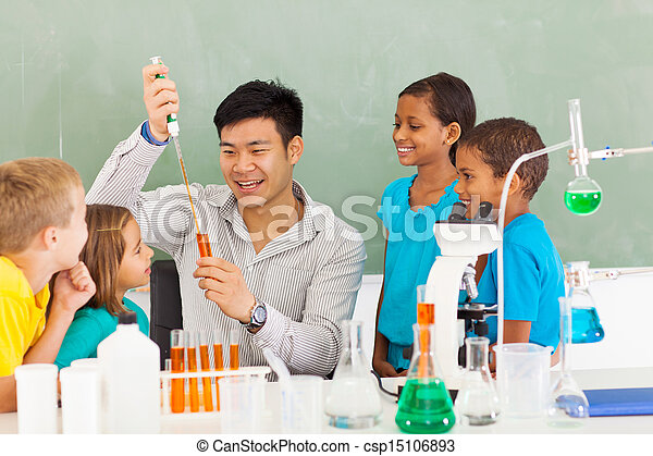 scienza, scuola, esperimento, primario - csp15106893