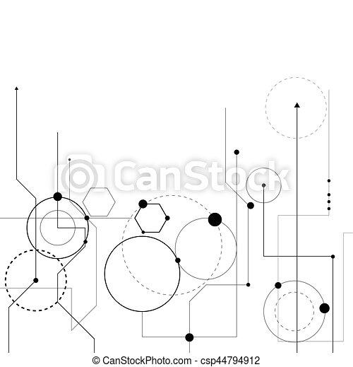 scienza, tecnologia, fondo - csp44794912