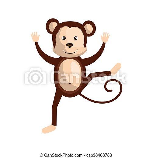 Scimmia circo cartone animato vettore animale disegno - Animale cartone animato immagini gratis ...